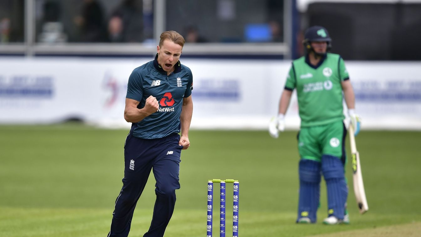 Curran celebrates against Ireland