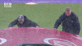 Rain Comes Down Leading to Abandoned Play