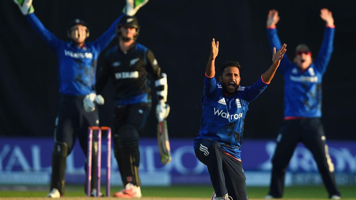 Adil Rashid appeals against New Zealand in 2015