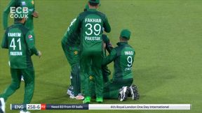 Denly Caught and Bowled by excellent Junaid catch