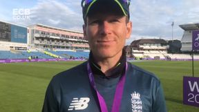 Eoin Morgan reacts to England's series win