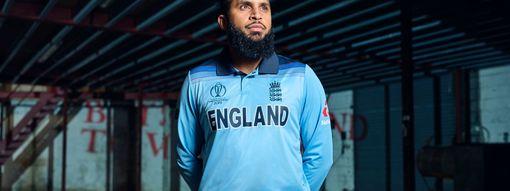 Adil Rashid in England's World Cup kit