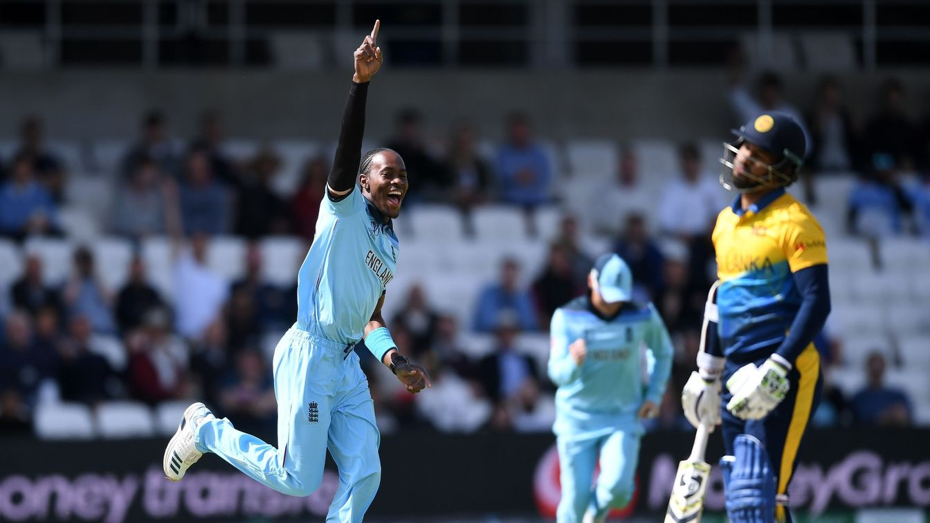 Jofra Archer celebrates at Headingley