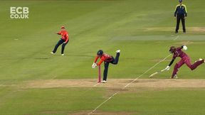 Stafanie Taylor is run out for 19