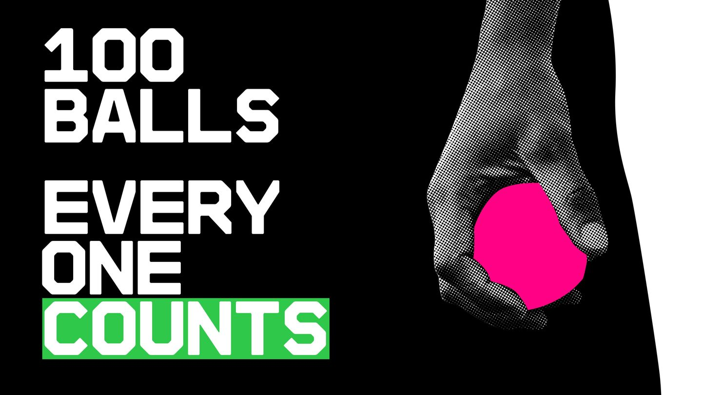 With only 100 balls per side every ball will be crucial in The Hundred