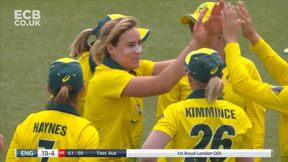 Knight out LBW for 0, Ellyse Perry has three