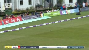 Alyssa Healy gets off the mark second ball with a powerful cut.