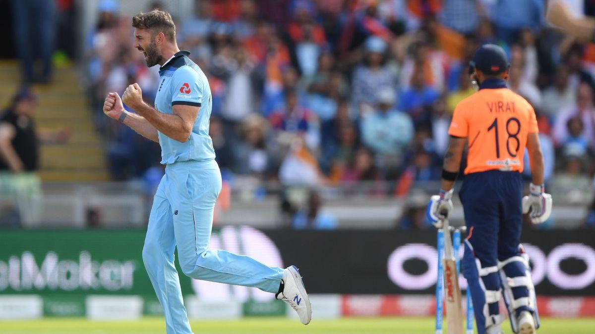Virat Kohli departs. Another huge Liam Plunkett wicket