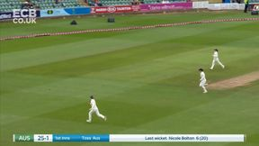 Alyssa Healy 4 off Shrubsole as the opener makes a fast start.