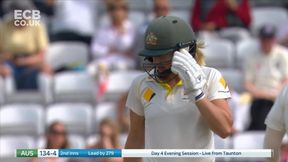 Ellyse Perry cuts for 4 after Tea.