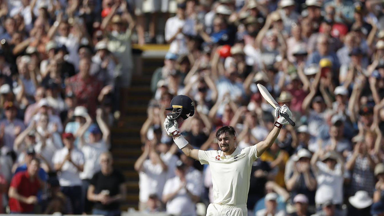 Rory Burns celebrates maiden Test century on his Ashes debut