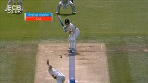 Smith falls for 92 as he's pinned in front by Woakes