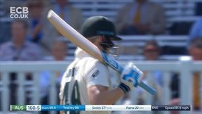 Steven Smith gets going after lunch with a straight drive