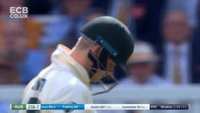 Steven Smith announces his return to the crease with a boundary
