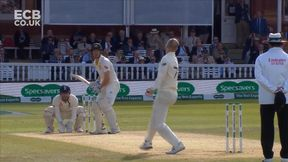 Bancroft is on his way as Leach strikes in the first over after tea