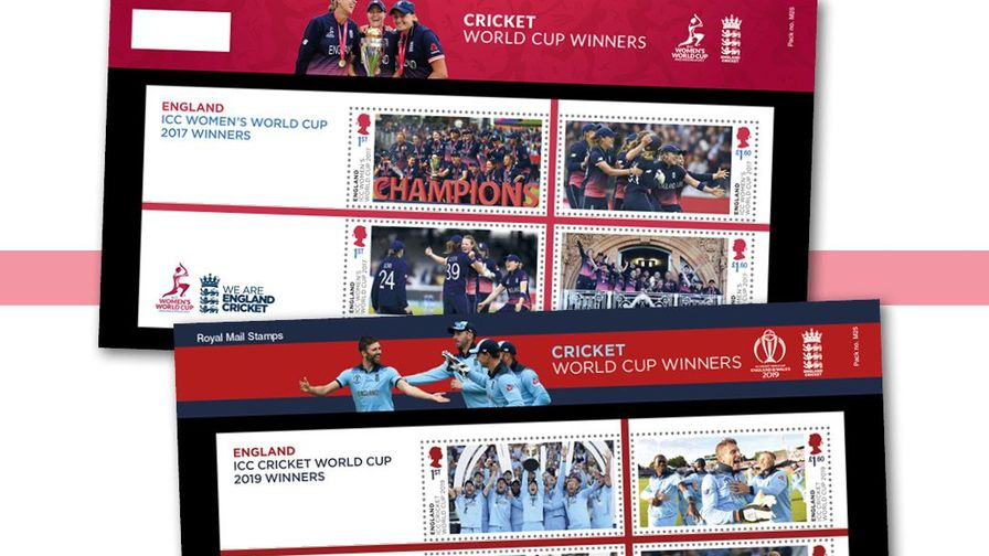 Special Royal Mail stamps issued to celebrate England men's and women's ICC Cricket World Cup wins