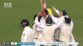 Wicket! Overton is given out lbw to Hazlewood and has no luck with the review
