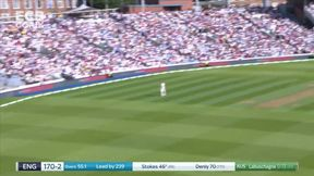 Ben Stokes dispatches a full toss for 6 to bring up his half century