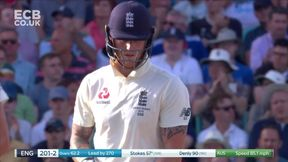 Stokes punches Siddle down the ground