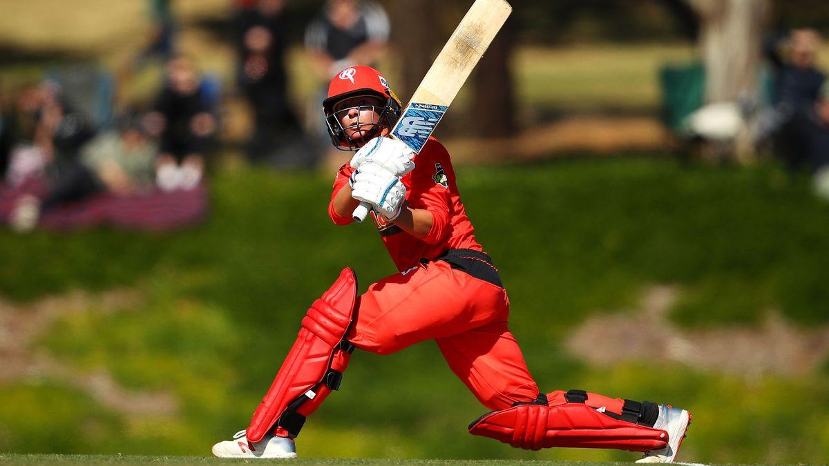 Danni Wyatt on the attack for Melbourne Renegades