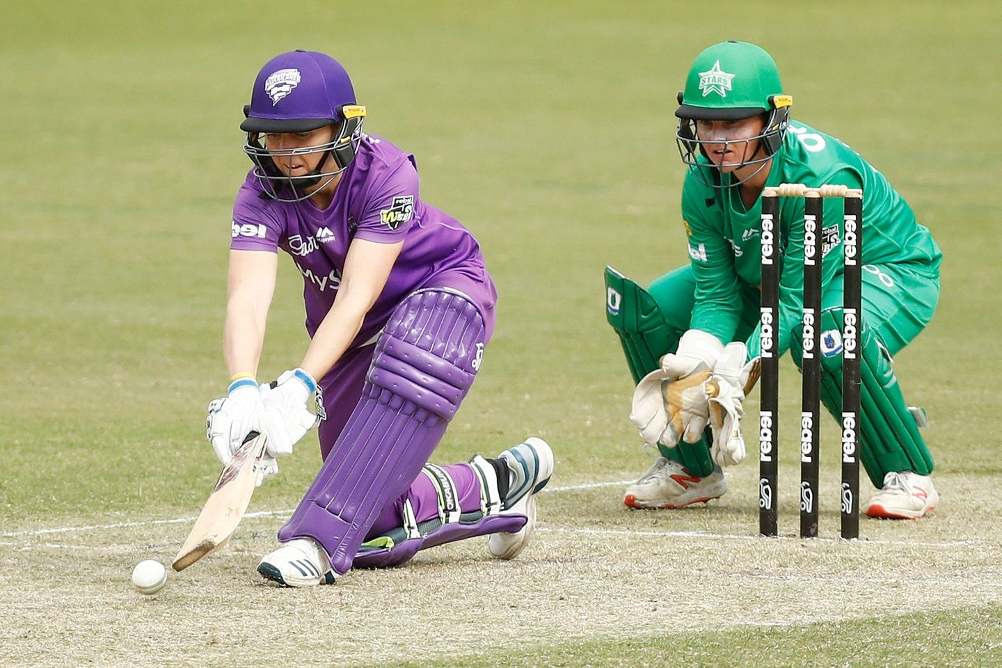 Heather Knight is representing Hobart Hurricanes in the WBBL