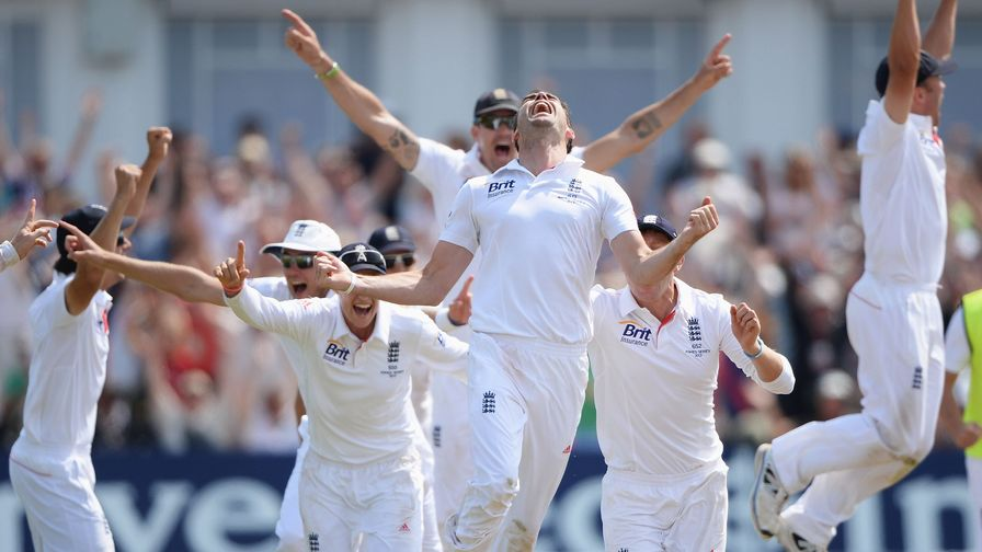 Simply incredible. England win the first Ashes Test match at Trent Bridge by 14 runs.