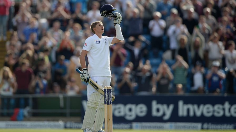 A special moment for Joe Root. A first Test century on his home ground.