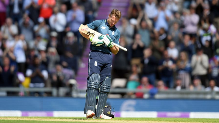 Jos Buttler celebrates his century against Pakistan at the birth of his baby daughter!