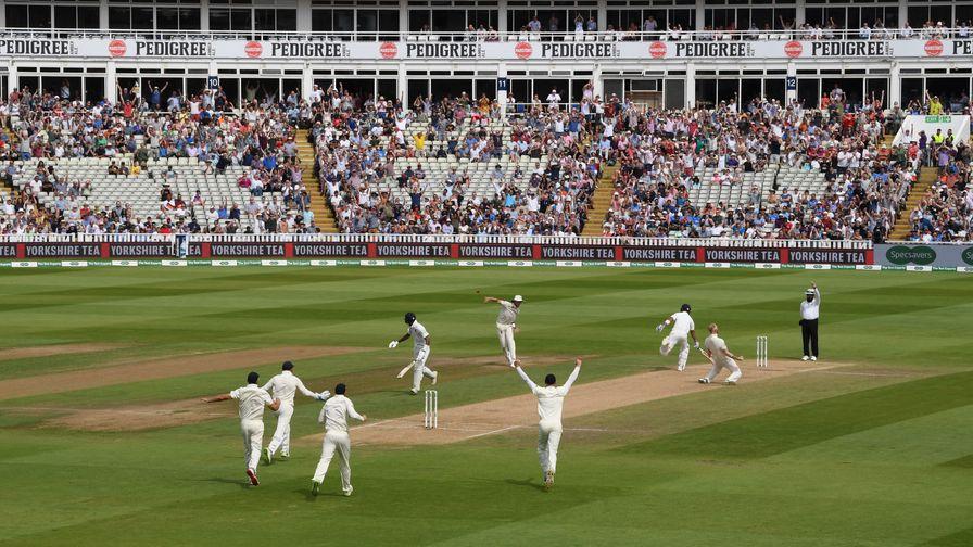 Ben Stokes celebrates the pivotal wicket of Virat Kohli as England battle back to win at Edgbaston.