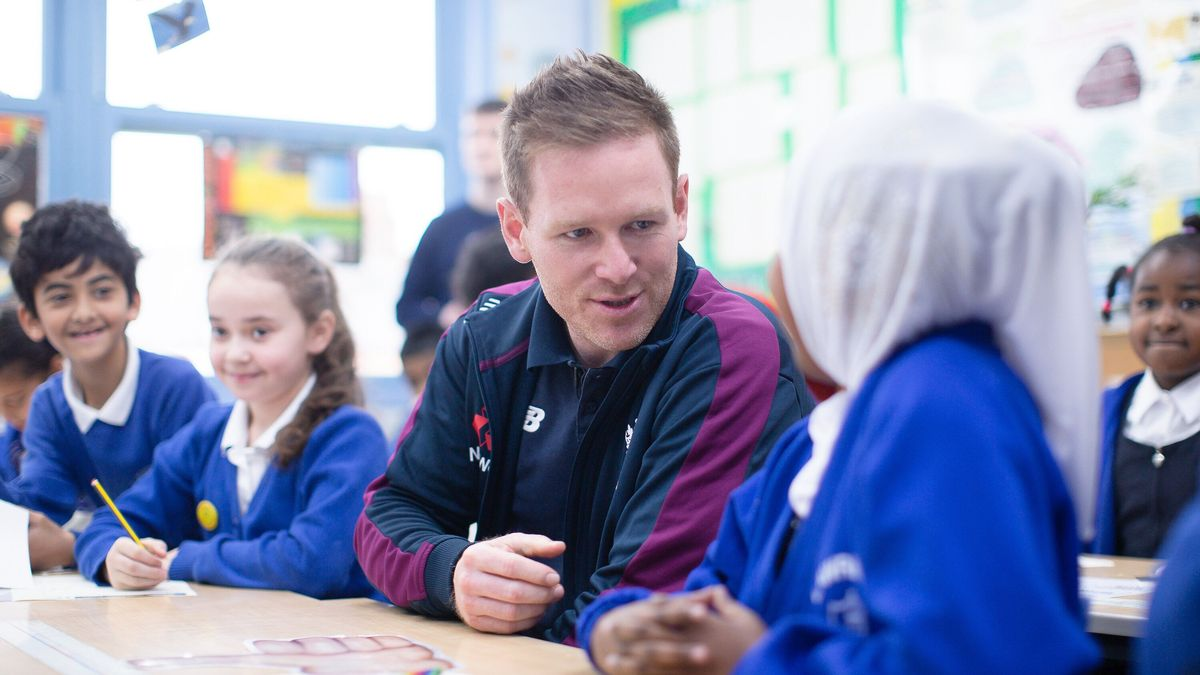 Eoin Morgan at the launch of Roar! for Diversity