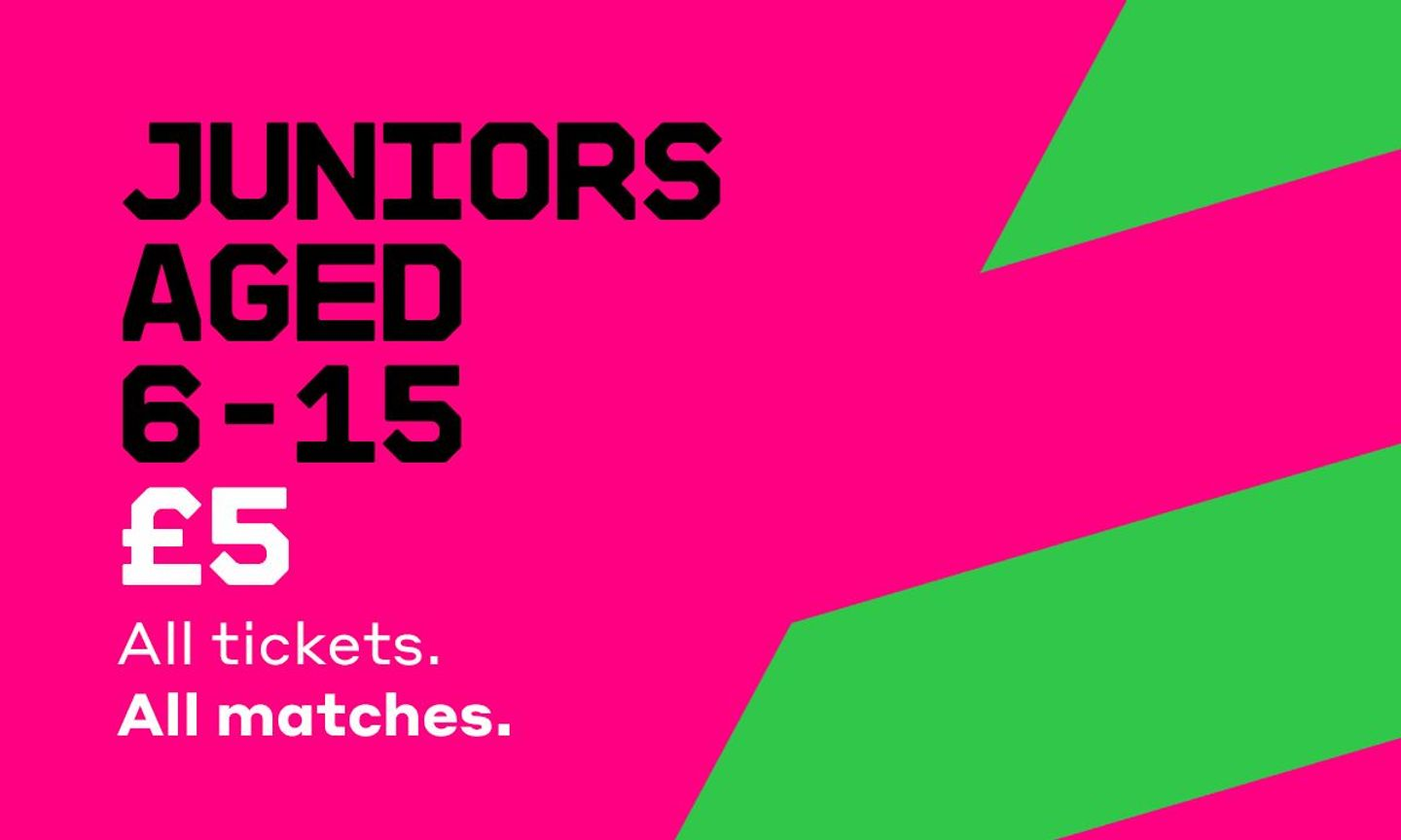 Under-16s will be able to attend The Hundred for just £5
