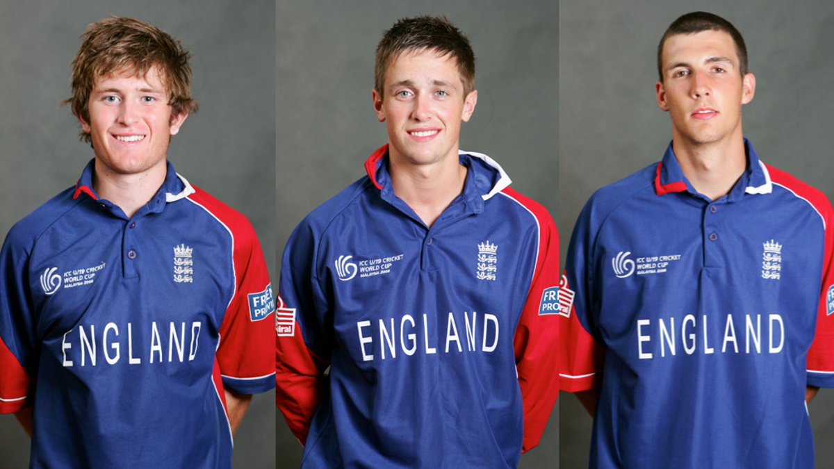 Liam Dawson, Chris Woakes and Steven Finn - U19 Cricket World Cup 2008