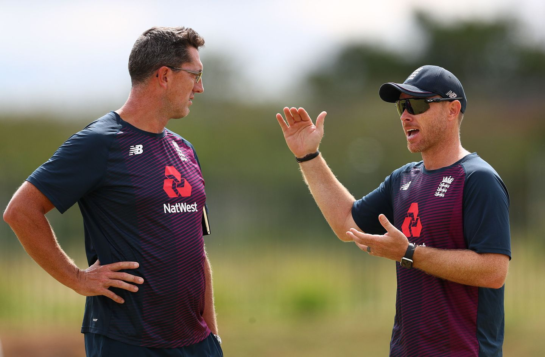 Jon Lewis with Ian Bell during England U19 duty