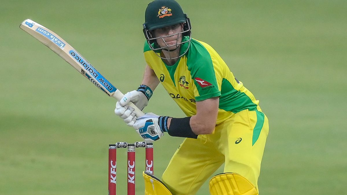Steve Smith in action for Australia