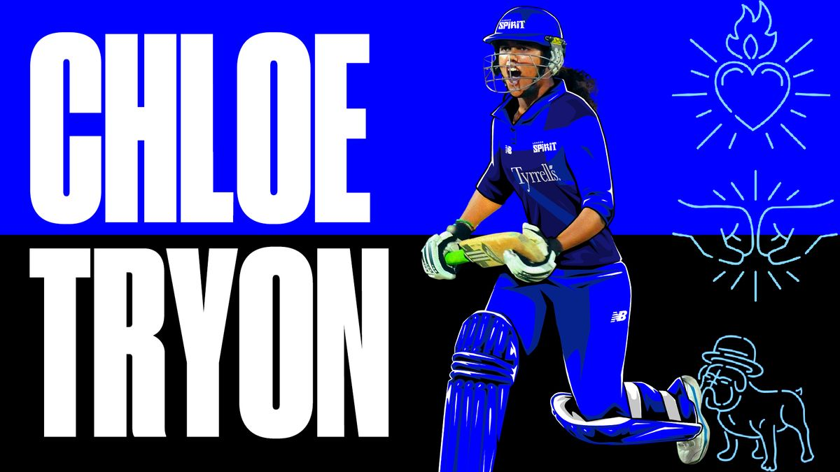 South African Chloe Tryon will add plenty of batting power to the London Spirit lineup.