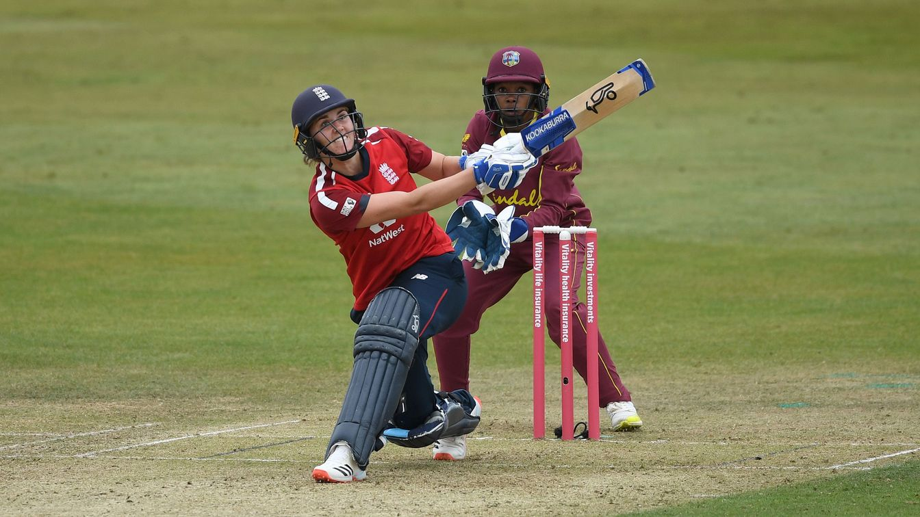 Nat Sciver during her 82 against West Indies