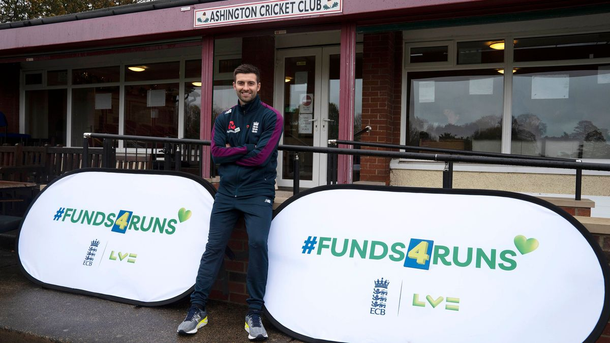 Mark Wood pictured at Ashington Cricket Club