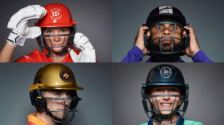 Stars of The Hundred show off the new Masuri helmets.