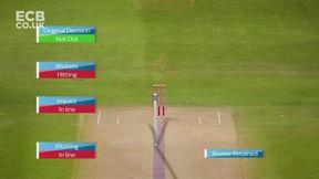 Malan wicket - lbw Chameera