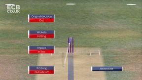 Babar wicket - lbw Mahmood