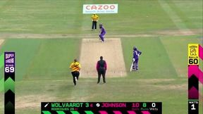 Laura Wolvaardt caught and bowled by Sammy Jo-Johnson