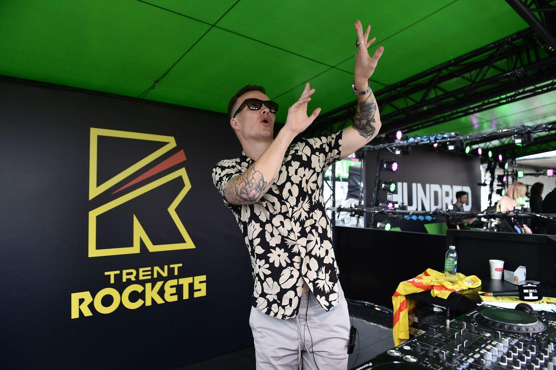 Trent Rockets DJ Charlie Burley enjoyed his day