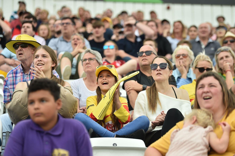 The Trent Bridge crowd enjoyed its day