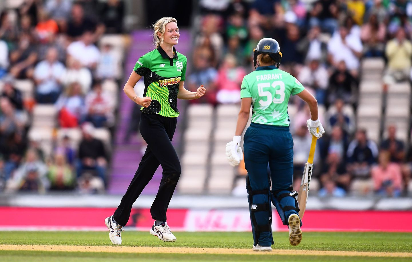 Three more wickets for Lauren Bell