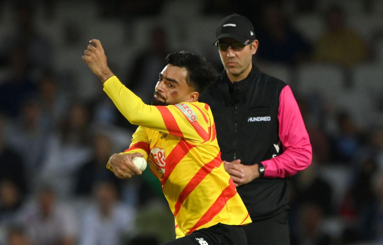 Rashid Khan giving it his all