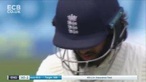Hameed wicket b Jadeja
